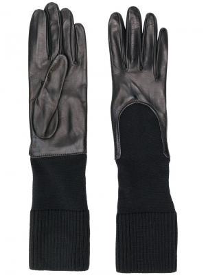 Перчатки с трикотажными манжетами Gala Gloves. Цвет: черный