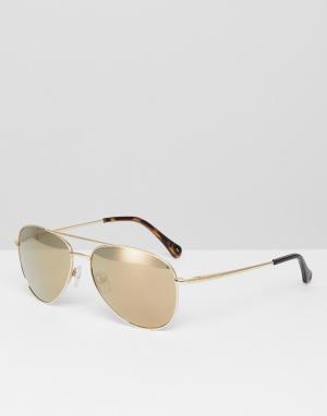 Tb1457 404 nova aviator sunglasses in gold Ted Baker. Цвет: золотой