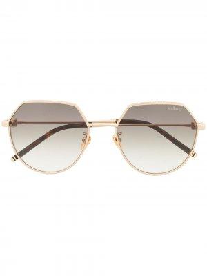 Солнцезащитные очки Jamie в металлической оправе Mulberry. Цвет: серый