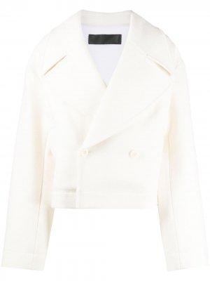 Двубортный пиджак оверсайз Haider Ackermann. Цвет: нейтральные цвета