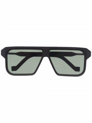 Солнцезащитные очки в прямоугольной оправе VAVA Eyewear. Цвет: черный