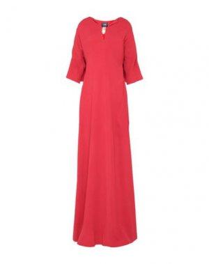 Длинное платье CAVALLI CLASS. Цвет: красный