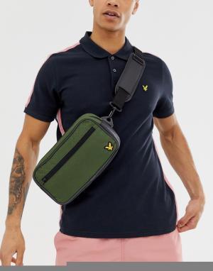 Спортивный кошелек на пояс цвета хаки Lyle & Scott Fitness. Цвет: зеленый
