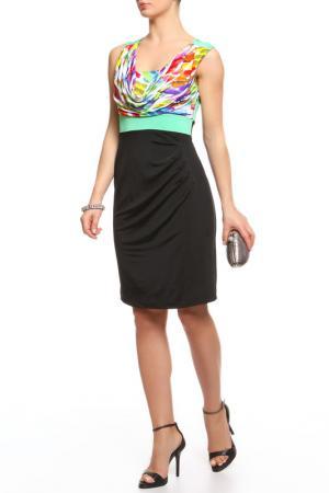 Платье Fuego. Цвет: черный, принт