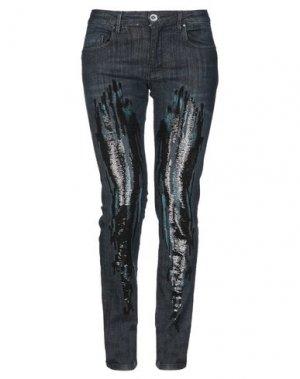 Джинсовые брюки ALTEЯƎGO. Цвет: синий