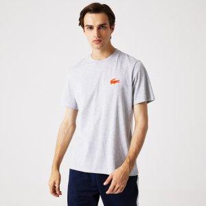 Нижнее белье и шорты Домашняя футболка Lacoste. Цвет: серый