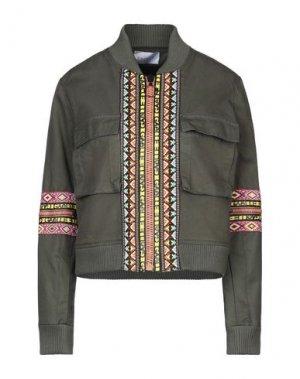 Куртка GAëLLE Paris. Цвет: зеленый-милитари