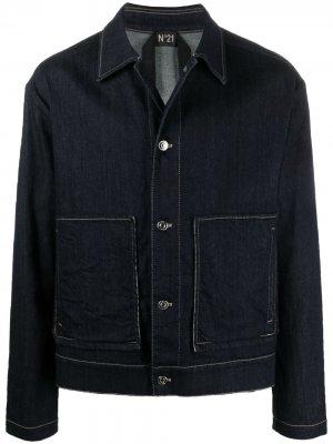 Джинсовая куртка на пуговицах Nº21. Цвет: синий