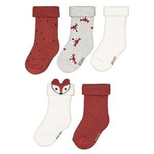 Комплект из 5 пар носков LaRedoute. Цвет: разноцветный