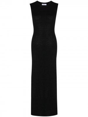 Платье Adelina из органического хлопка Equipment. Цвет: черный