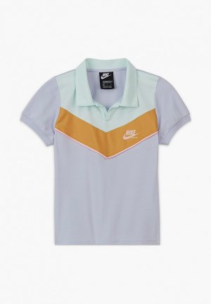 Поло Nike G NSW HERITAGE SS POLO. Цвет: синий