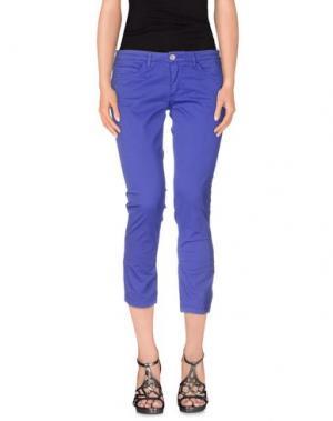 Джинсовые брюки-капри 40WEFT. Цвет: фиолетовый