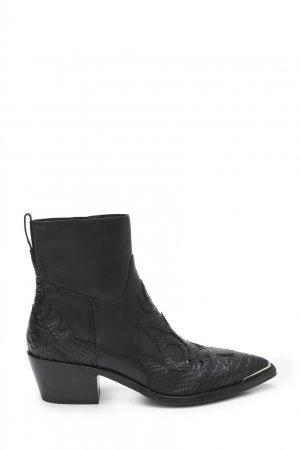 Черные кожаные ботильоны Django ASH. Цвет: черный