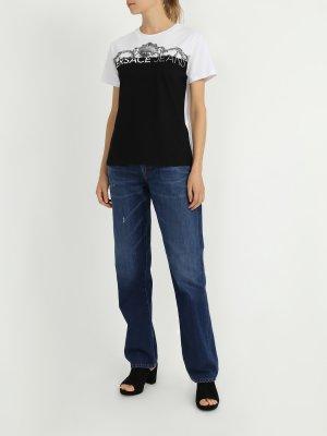 Прямые джинсы My Twin Twinset. Цвет: siniy