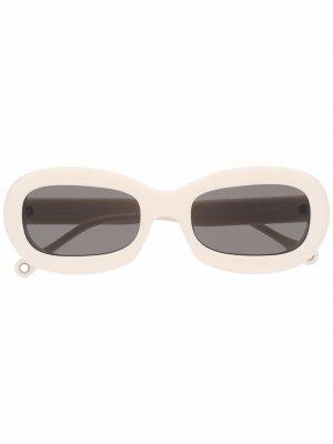 Солнцезащитные очки Out Of Blue Etudes. Цвет: белый