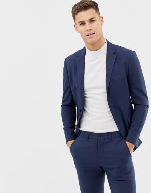 Синий меланжевый пиджак Lindbergh