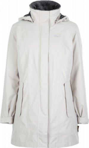 Куртка утепленная женская Jack Wolfskin Madison Avenue, размер 46-48. Цвет: бежевый