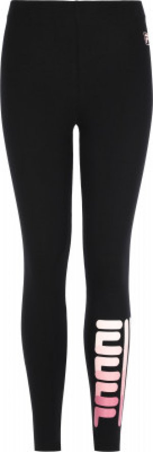 Легинсы для девочек , размер 170 FILA. Цвет: черный