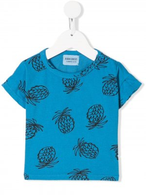 Pineapple print T-shirt Bobo Choses. Цвет: синий