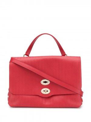 Большая сумка-тоут Postina Zanellato. Цвет: красный