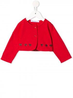 Жакет на пуговицах с вышивкой Familiar. Цвет: красный