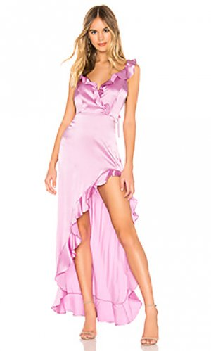 Платье chandelier Amanda Uprichard. Цвет: фиолетовый
