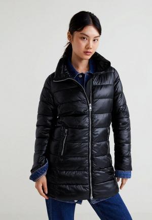 Куртка утепленная Mango - BLANLONG. Цвет: черный