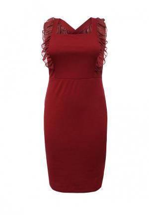 Платье LOST INK PLUS LO035EWQUN40. Цвет: бордовый