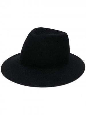 Фетровая шляпа-трилби Ann Demeulemeester. Цвет: черный