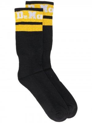 Носки в рубчик с логотипом Dr. Martens. Цвет: черный