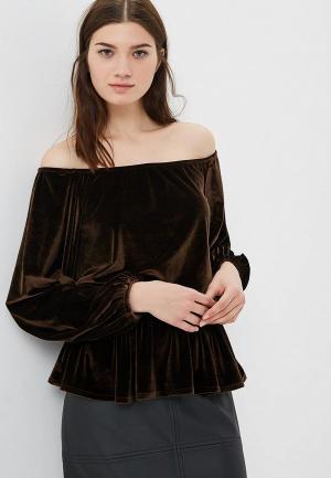 Блуза AlexandraKazakova 1552К. Цвет: коричневый