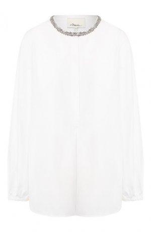 Хлопковая рубашка 3.1 Phillip Lim. Цвет: белый