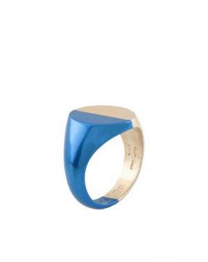 Кольцо MAISON MARGIELA. Цвет: синий
