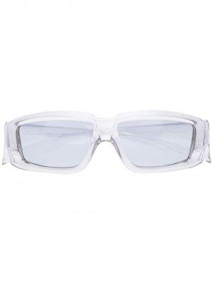 Солнцезащитные очки Larry Rick в прямоугольной оправе Owens. Цвет: серый