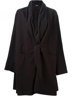Драпированное пальто-дождевик Romeo Gigli Vintage. Цвет: коричневый