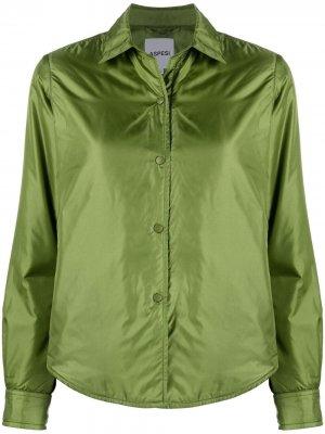 Утепленная куртка-рубашка Aspesi. Цвет: зеленый