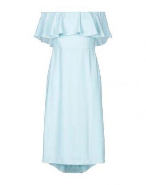 Платье миди HALSTON. Цвет: небесно-голубой
