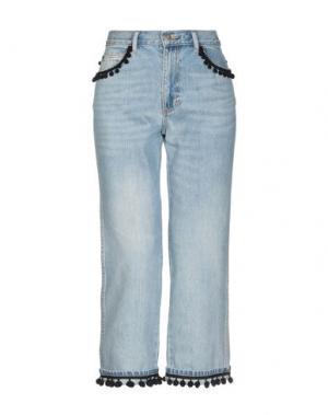 Джинсовые брюки-капри MARC JACOBS. Цвет: синий