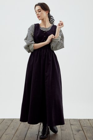 Платье-сарафан ЧЕРЕШНЯ. Цвет: чернильный