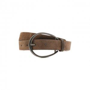 Кожаный ремень Brunello Cucinelli. Цвет: коричневый