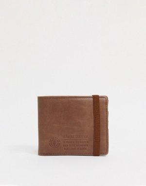 Коричневый бумажник Element