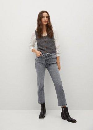 Прямые джинсы из хлопка - Mar Mango. Цвет: джинсовый серый
