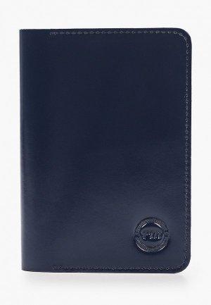 Обложка для паспорта Franchesco Mariscotti. Цвет: синий