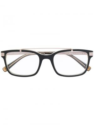 Очки с квадратной оправой Dsquared2 Eyewear. Цвет: черный