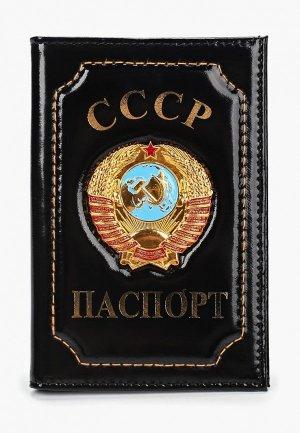 Обложка для паспорта Forte St.Petersburg. Цвет: черный