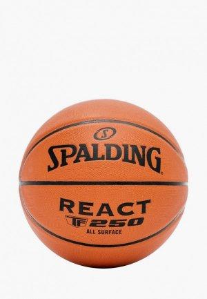 Мяч баскетбольный Spalding. Цвет: оранжевый