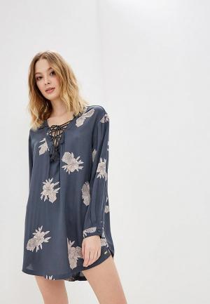 Платье Roxy. Цвет: серый