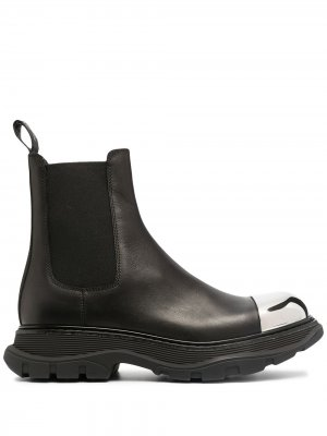 Ботинки челси с контрастным носком Alexander McQueen. Цвет: черный