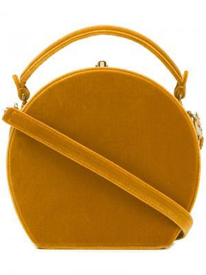 Маленький округлый клатч Bertoni 1949. Цвет: жёлтый и оранжевый