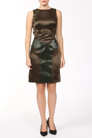 Платье Dennis Basso. Цвет: зеленый